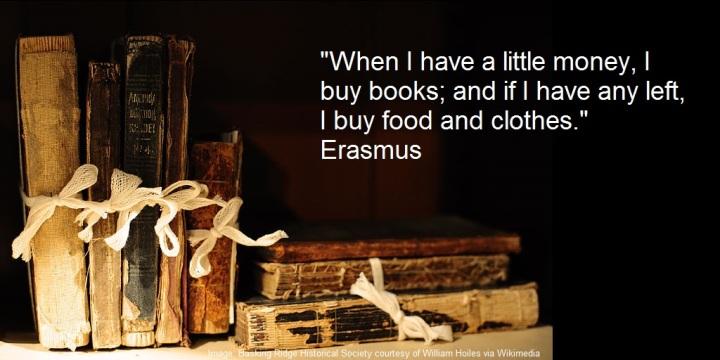 erasmus buys books